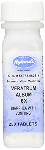Hyland's Veratrum Album 6X Tablets, Natural Homeopathic Relief of Diarrhea or Vomiting, 250 Count