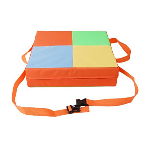 Pixnor Oxford zerlegbar verstellbare Kinder Esszimmer Stuhl Booster Kissen schnell wischen sauber Baby-Kinder-Sitze (Orange)