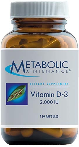 Metabolic Maintenance - Vitamin D-3-2000 IU, High Potency + Easier Absorption, 120 Capsules