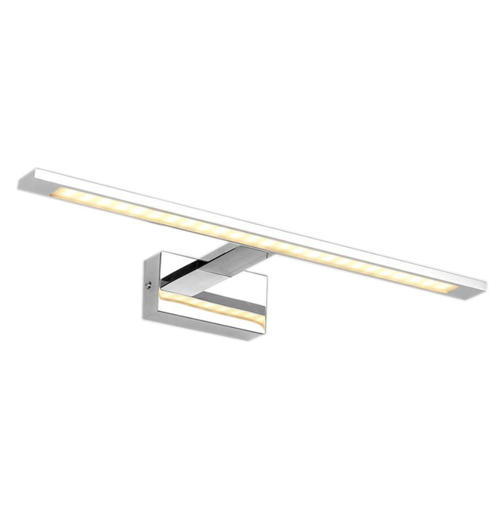 ALYR Wandspiegel Frontlicht LED Spiegellampen FüR Das Bad FeuchtigkeitsBesteändige Spiegelleuchten Badspiegellampen,Warm Weiß_20w 68cm