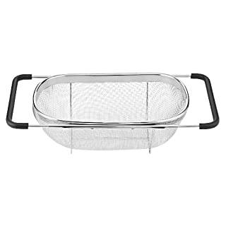 Cuisinart CTG-00-OSC Over-The-Sink Colander, 5.5 Qt,Stainless Steel