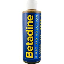 Betadine First Aid Solution, 8 Fl Ounce Bottle, Povidone Iodine Antiseptic to Help Prevent Infection in Minor Cuts, Scrapes and Burns