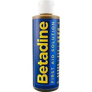 Betadine First Aid Solution, 8 Ounces, Povidone Iodine Antiseptic