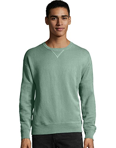 Hanes Ultimate Cotton Crewneck Sweatshirt - ComfortWash by Hanes. Cypress Green. S. GDH400. 00738994238733