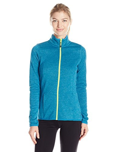 HEAD Women's Cozy Sweater Knit Zip Front Jacket, Turkish Tile Heather, Medium ()