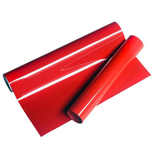20'' x 21 Yard EasyWeed Red Color PVC Digital Heat Press Transfer Vinyl Iron on T-shirts Bags Clothes by Xinghoo