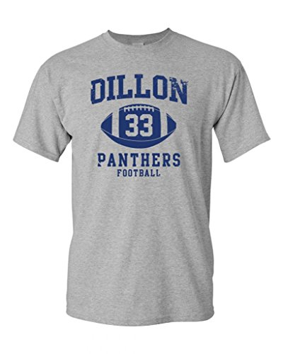 (Dillon Football Retro Adult DT T-Shirt Tee (X Large, Sports Gray))