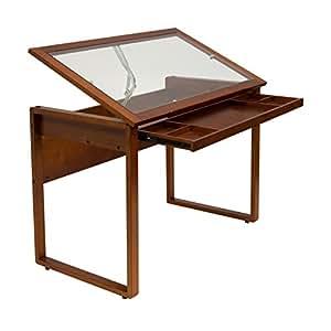 Amazon Com Studio Designs Ponderosa Glass Topped Table In