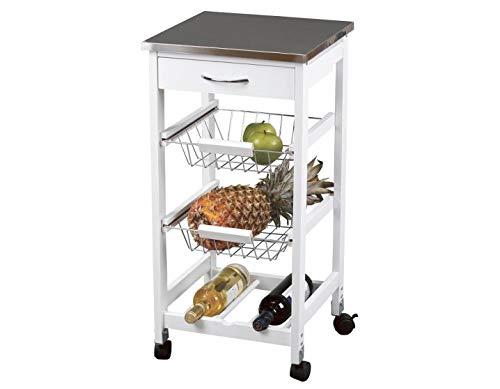 Kit Closet 7040028012 - Carro de Cocina con cestas + botellero, INOX: Amazon.es: Hogar