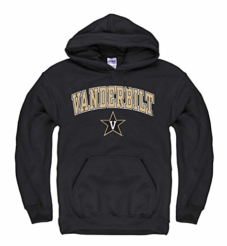 (Campus Colors Vanderbilt Commodores Arch & Logo Gameday Hooded Sweatshirt - Black, Small)