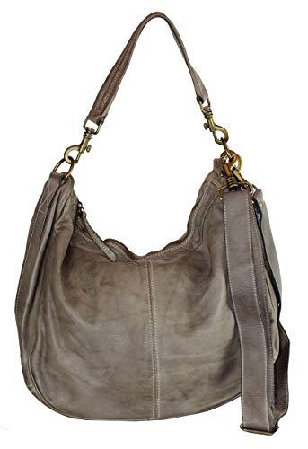 BZNA Bag Sia grå Italy Designer dam handväska axelväska väska fårläder Shopper ny