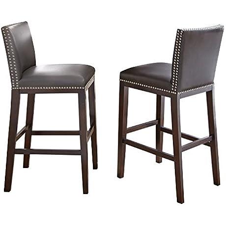Steve Silver Company Tiffany Bar Chairs Gray