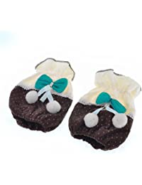 Gain Bowknot Decor Elastic Cuff Oversleeve Sleevelet Pair Coffee Color discount