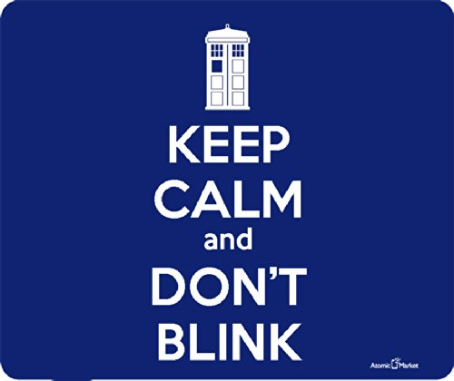 Tardis Keep Calm And Don't Blink Mousepad by Atomic Market