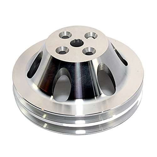 Assault Racing Products A8842POL Big Block Chevy 2 Groove Polished Aluminum Water Pump Pulley 6.60