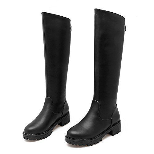 Leather Outdoor Imitated Black Girls Boots Metal A amp;N Kitten Heels Ornament 6Uq8Hqw
