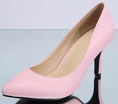 0 Ladies Sexyher 3 Pink Fashion High 0 Shoes Office Shoqy10 Heel Womens 3 Inches 8tHwqxt1T