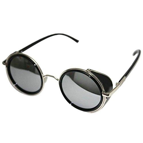 Steampunk Culater® F Specchio Tondo Lente Sole Cyber Occhiali A Da Vintage Retro wP0nOk8