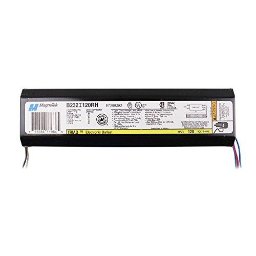 Magnetek B232I120RH Electronic Fluorescent Ballast, 2 Lamp, F32T8, 32W T8, 120V