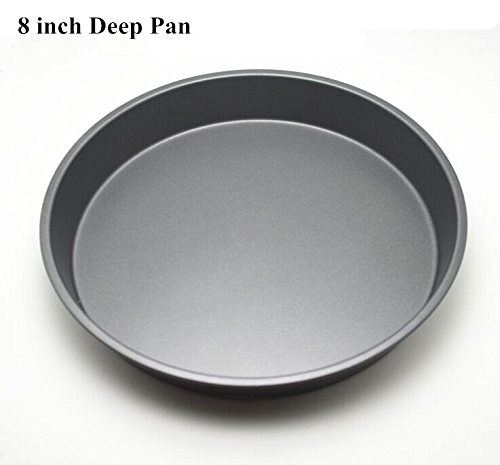 Fangfang Nonstick Deep Pizza Pan Pizza Tray Evenly Bakes Heat (8 Inch)