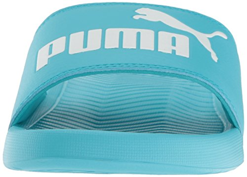 Puma Menns Popcat Lysbilde Sandal Blå Atoll-puma Hvit