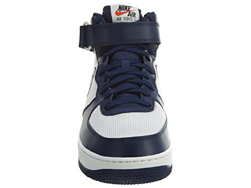 Binary White Mid Alte Force Air Nike 1 Pelle Blu Blue Uomo Sneakers Mesh Summit BxXp8qwWSw
