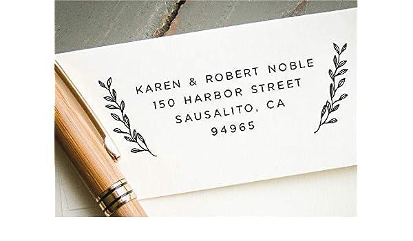 Amazon Com Self Inking Return Address Stamp Pre Inked Custom