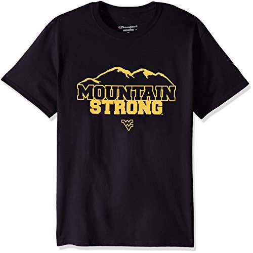 (NCAA Men's Champ Short sleeve Local T-Shirt West Virginia Mountaineers Small)