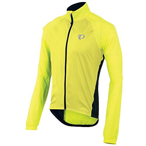 Pearl Izumi Elite Barrier - Pearl Izumi Men's Elite Barrier Jacket, Large, Black/Screaming Yellow