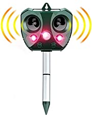 Eesyy Cat Repellent,Solar Ultrasonic Animal Cat Repeller with Motion Sensor,IP65 Waterproof USB/Battery Operated Animal Scarer Repels All Animals