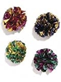 Ethical 1-1/2-Inch Mylar Balls Cat Toys, 4-Pack. Colorful, Non-toxic, Crinkle, Balls, My Pet Supplies