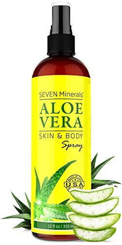 Organic Aloe Vera SPRAY for Body & Hair - Made in USA - EXTRA Strong - from FRESHLY CUT Aloe Plant - Easy to Apply - No THICKENERS so it Absorbs Rapidly with No Sticky Residue