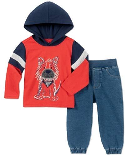 (Kids Headquarters Baby Boys 2-Pc. Dog-Print Hoodie & Denim Jogger Pants Set (Assorted, 24M) )