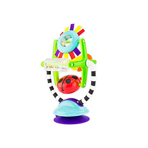 High Base 6 (Sassy Sensations Station Suction Toy – 6+ Months, 2-in-1 Toy Suction Cup Removable Base Stimulates Baby With A Variety Of Textures, Bold Colors, and Sounds)