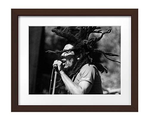 Photos by Getty Images Bob Marley - Framed Print, Framed, Espresso, White Matte, 32x26