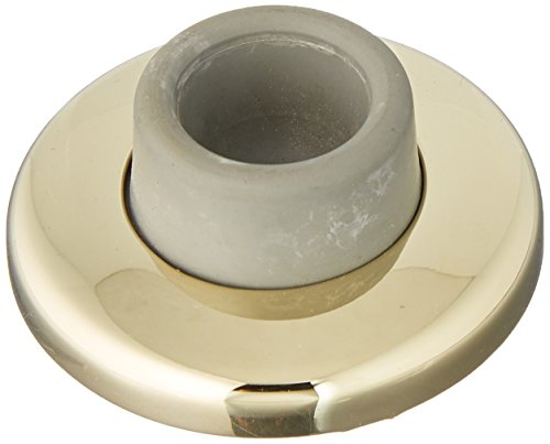 (Baldwin 4293 2-3/8 Inch Diameter Concave Wall Mounted Flush Bumper, Lifetime Polished Brass )