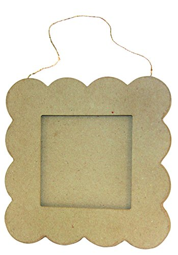 décopatch Mache Standing Square Frame, 2 x 42.5 x 42.5 cm, Brown