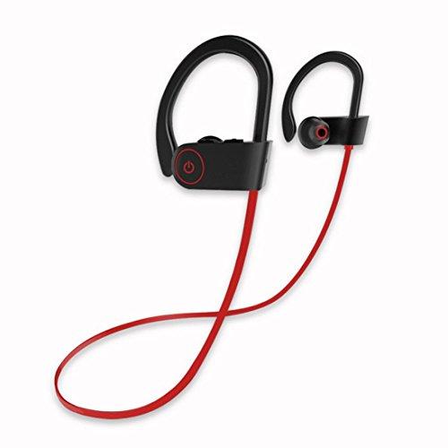 YRD Tech U8 Earphone Sport Wireless Earphone Bass Stereo Waterproof with Mic for Phone ()