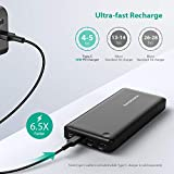 USB C Power Bank RAVPower 26800mAh PD Portable Charger (Fast Recharged in 4.5 Hours, 30W Type C Output) external battery pack for Nintendo Switch, USB-C Laptops, 2016 MacBook Power Delivery Support