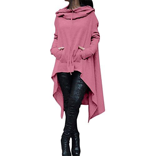 Desshok - Sudadera con capucha - Manga Larga - para mujer Rosa