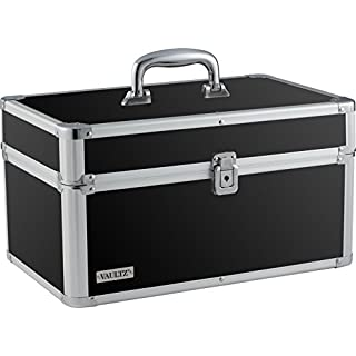 Vaultz Locking Makeup Artist Case, Black (VZ03743)