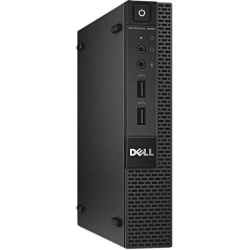 Dell Optiplex 9020 Micro Desktop Computer Tiny PC (Intel Core i3-4160T, 8GB Ram, 256GB Solid State SSD, WIFI, Bluetooth, HDMI) Win 10 Pro With CD (Renewed)