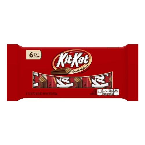 KIT KAT Chocolate Candy Bars, 6 Bars (Pack of - Kat Kosher Kit