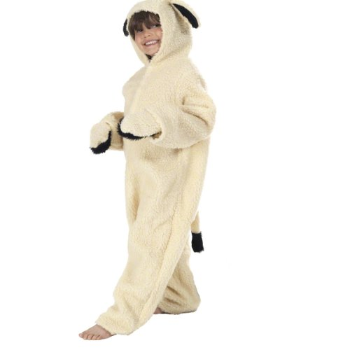 Lamb Costume for Kids 5-7 Years Off-White]()
