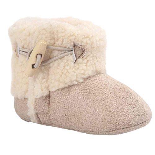 HUHU833 Kinder Mode Baby Stiefel Soft Sole, Keep Warm Schnee Stiefel, Krippe Schnee Schuhe Winter Stiefel (0-18 Month) Khaki