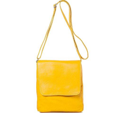 Bottega Carele - Bolso cruzados de Piel para mujer amarillo