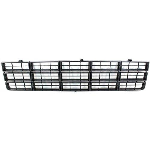 Chevrolet K5 Blazer Grille Assembly - Evan-Fischer EVA17772010744 Grille for Chevrolet C/K Full Size P/U 77-80 Painted-Dark Argent Shell/Painted-Black Insert