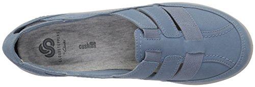 CLARKS Womens Sillian Stork Fisherman Sandal, Blue/Grey Synthetic Nubuck, 7.5 Medium US