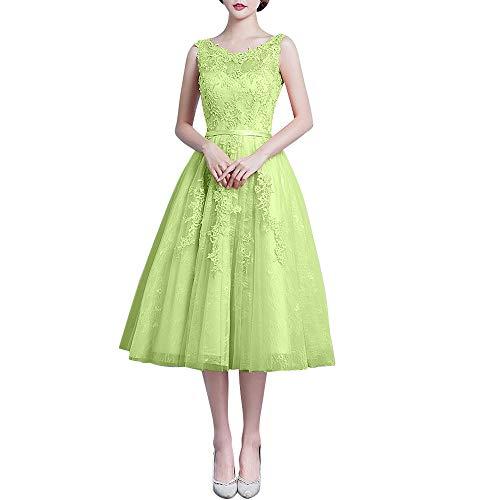Ballkleider Gruen Lemon Abendkleider Abschlussballkleider Marie La Rosa Romantisch Spitze Braut Ballkleider Wadenlang wPwvF4qX1