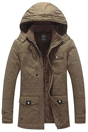 Northgard Men's Winter Thicken Cotton Parka Jacket with